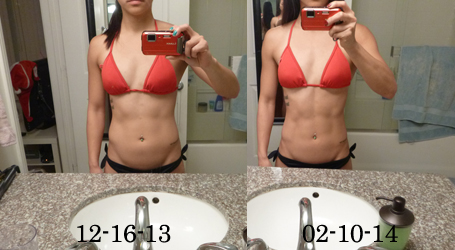 ting wang before after abs 8 weeks