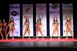 ting wang bikini competition on stage first call out