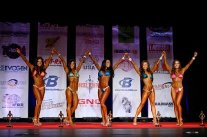 ting wang bikini competition on stage top five 1
