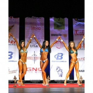 ting wang bikini competition top three
