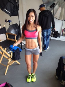 ting wang fitness model photo shoot behind scenes 1