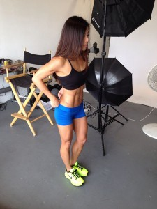 ting wang fitness model photo shoot behind scenes 2