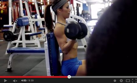 ting wang dumbbell bicep curl on youtube