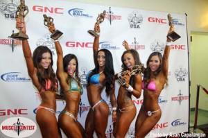 bikini contest class a top five placers