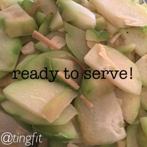 chayote squash ready to serve