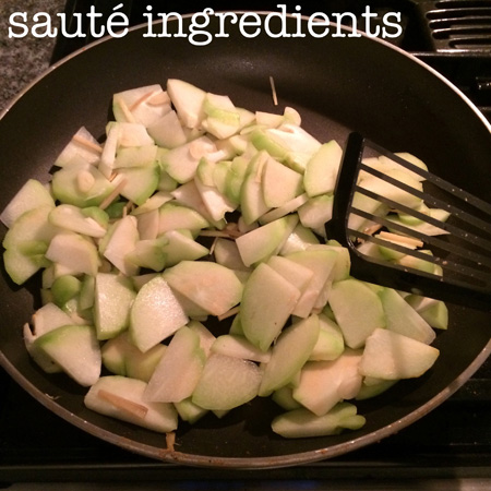 chayote squash saute ingredients