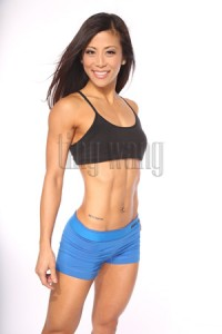 fitness model ting wang (tingfit) in a standing pose 2