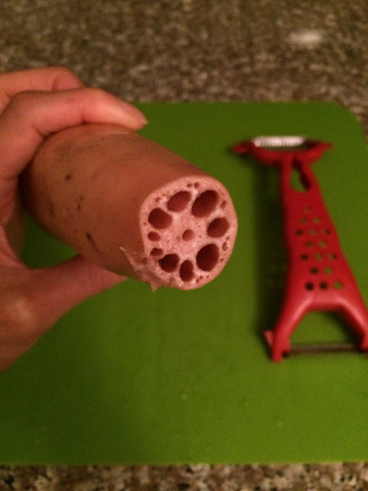 lotus root in its raw form