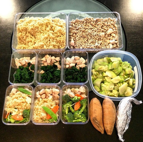 meal prepping for bikini competition