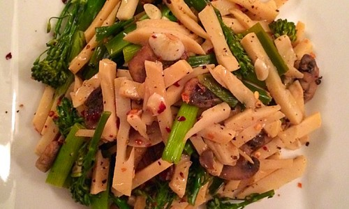 sauted bamboo shoot recipe with veggies
