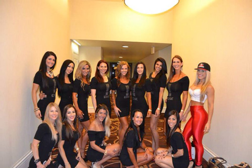 ting wang with team edge bikini competitors