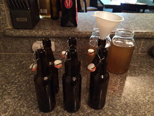 bottling kombucha tea