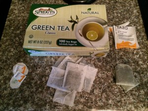 green tea and wild sweet orange tea