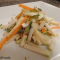 light and refreshing raw kohlrabi salad