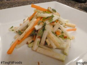 light and refreshing raw kohlrabi salad