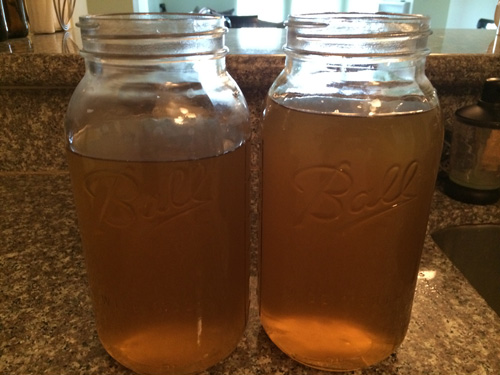 sweetened tea at room temperature