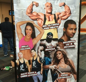 FitExpo special guests on a banner