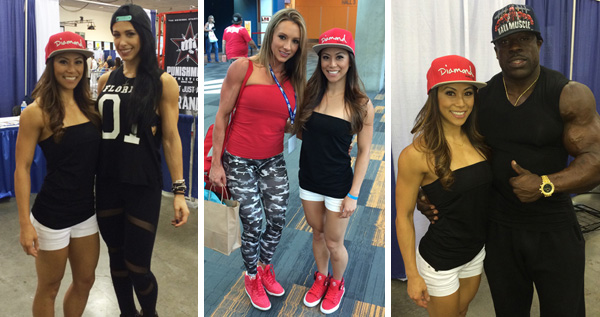 Bella Falconi, Paige Hathaway, and Kali Muscle at the FitExpo