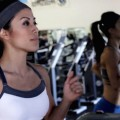 ting wang on treadmill doing hiit (high intensity interval training)