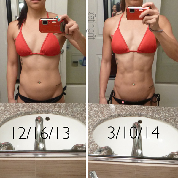 Ting Wang before and after three month transformation